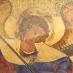 Copie d'une enluminure St Michel terrassant le dragon.