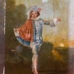 Copie de l'Indifférent de Watteau. Huile sur papier.