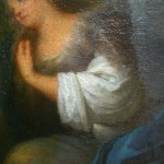 Apparition de Jésus-Christ à Marie-Madeleine. Huie sur toile. Italien du 17 ème Siècle.