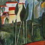 Copie paysage du sud de Modigliani.